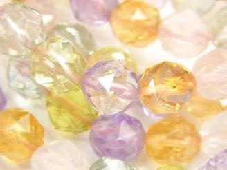 【動画】宝石質いろんな天然石AAA スターラウンドカット10mm 1連(ブレス)
