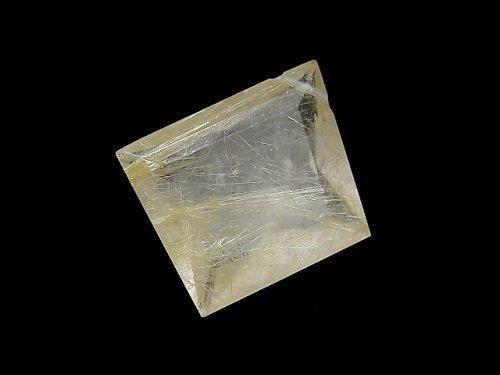 【動画】【1点もの】宝石質ルチルクォーツAAA- ファセットカット 横穴 1粒 NO.10