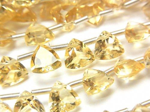 【動画】宝石質シトリンAAA トライアングル ファセットカット6×6mm 1連(28粒)