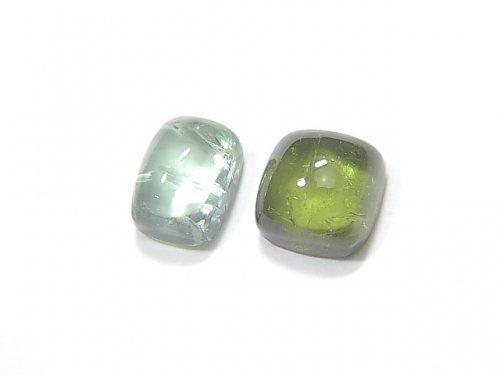 【動画】【1点もの】宝石質グリーントルマリンAAA カボション 2個 NO.213
