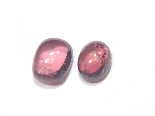 【動画】【1点もの】宝石質ピンクトルマリンAAA カボション 2個 NO.214
