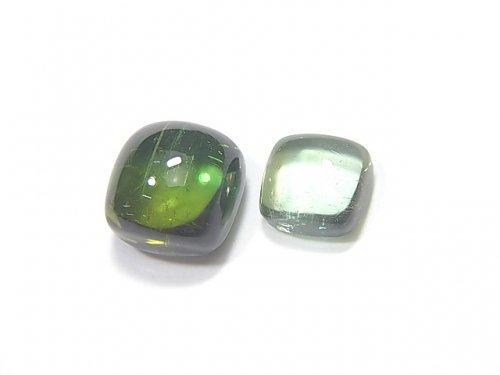 【動画】【1点もの】宝石質グリーントルマリンAAA カボション 2個 NO.215