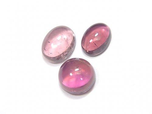 【動画】【1点もの】宝石質ピンクトルマリンAAA カボション 3個 NO.219