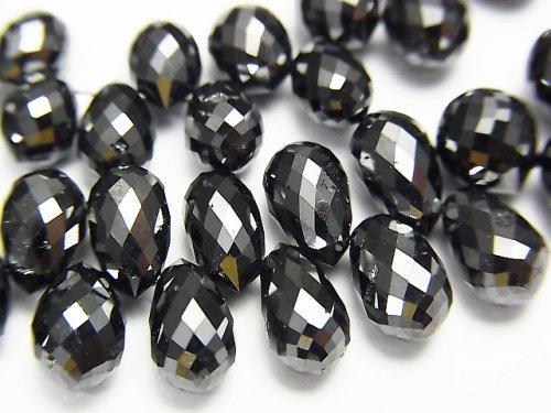 【動画】ブラックダイヤモンドAAA 大粒ドロップ ブリオレットカット 1粒