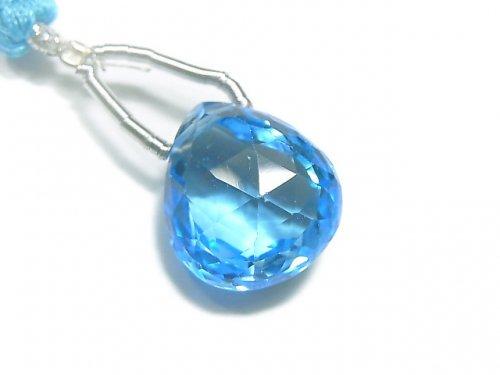【動画】【1点もの】【希少】宝石質スイスブルートパーズAAAA 大粒マロン ブリオレットカット 1粒 NO.83