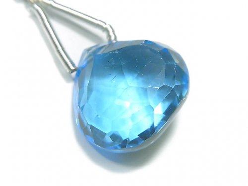 【動画】【1点もの】【希少】宝石質スイスブルートパーズAAAA 大粒マロン ブリオレットカット 1粒 NO.87