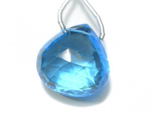 【動画】【1点もの】【希少】宝石質スイスブルートパーズAAAA 大粒マロン ブリオレットカット 1粒 NO.95