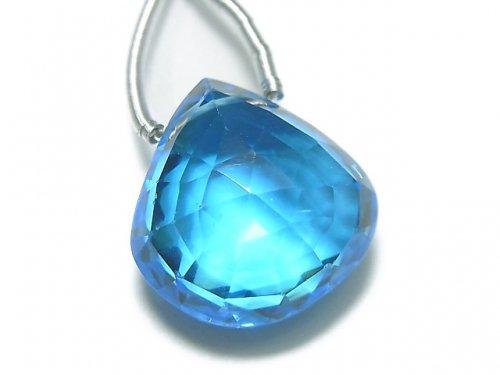 【動画】【1点もの】【希少】宝石質スイスブルートパーズAAAA 大粒マロン ブリオレットカット 1粒 NO.96