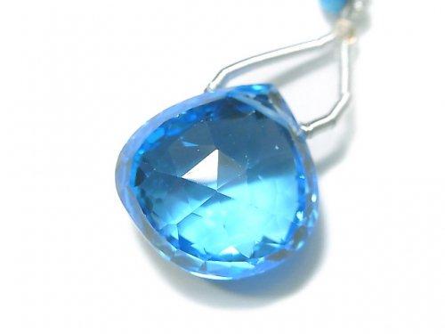 【動画】【1点もの】【希少】宝石質スイスブルートパーズAAAA 大粒マロン ブリオレットカット 1粒 NO.98