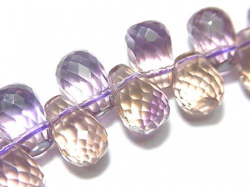 【動画】【1点もの】宝石質アメトリンAAA ドロップ ブリオレットカット 1連(ブレス) NO.76