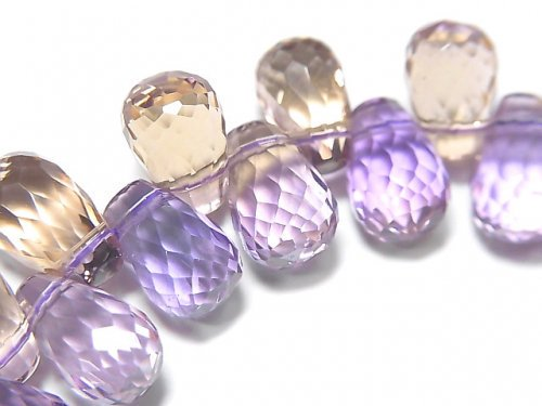 【動画】【1点もの】宝石質アメトリンAAA ドロップ ブリオレットカット 1連(ブレス) NO.77