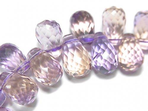 【動画】【1点もの】宝石質アメトリンAAA ドロップ ブリオレットカット 1連(ブレス) NO.78