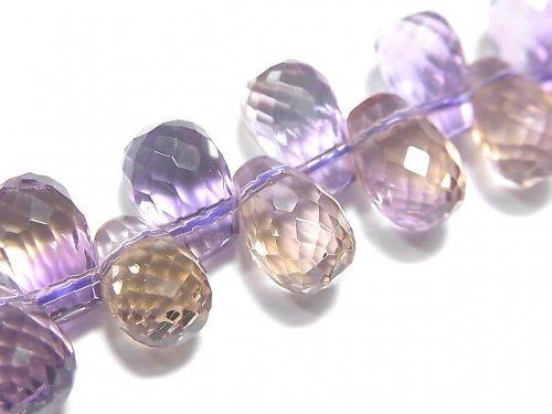 【動画】【1点もの】宝石質アメトリンAAA ドロップ ブリオレットカット 1連(ブレス) NO.79
