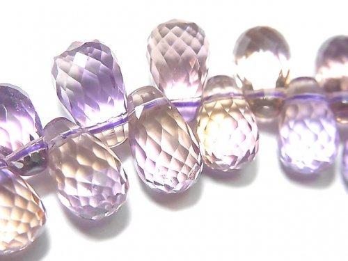 【動画】【1点もの】宝石質アメトリンAAA ドロップ ブリオレットカット 1連(ブレス) NO.82