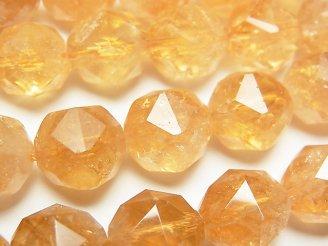 【素晴らしい輝き】シトリンAA++ スターラウンドカット12mm 1/4連〜1連(約37cm)