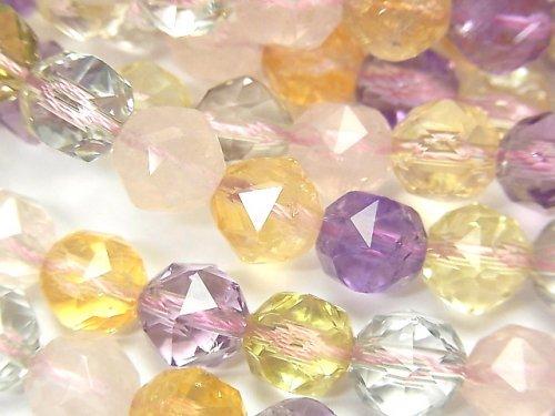 【動画】宝石質いろんな天然石AAA スターラウンドカット8mm 1/4連〜1連(約38cm)