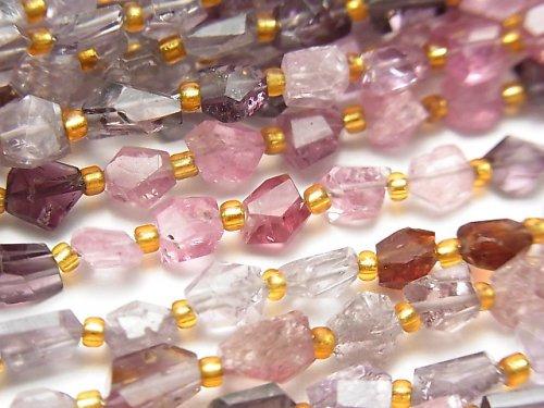 【動画】宝石質マルチカラースピネルAAA タンブルカット 1連(約21cm)