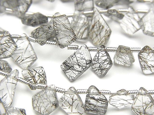 【動画】宝石質トルマリンクォーツAAA ラフスライスカット 1連(約18cm)
