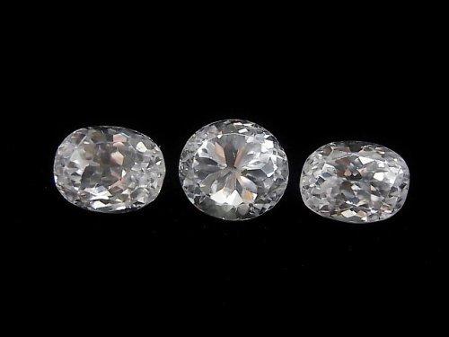 【動画】【1点もの】宝石質スポデューメンAAA ファセットカット 3粒セット NO.48