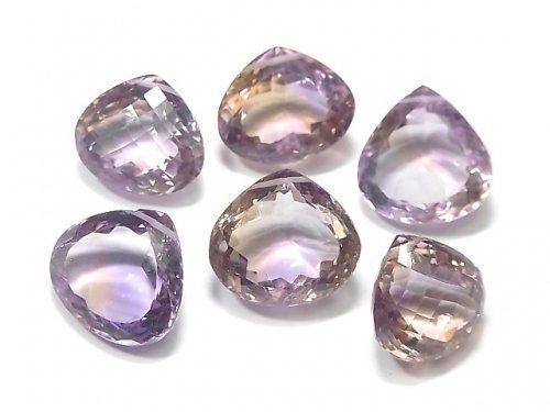 【動画】【1点もの】宝石質アメトリンAAA 大粒ファセットカット 横穴 6粒セット NO.180