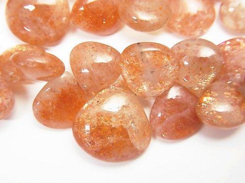 宝石質サンストーンAA+ マロン(プレーン) 1連(約18cm)