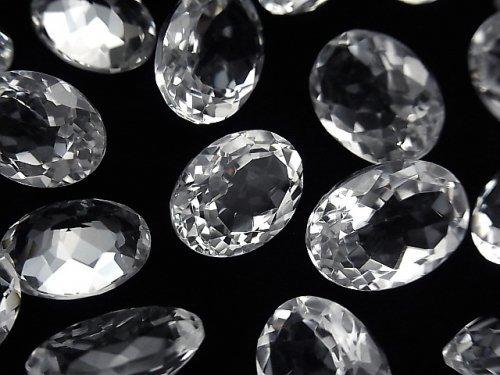 宝石質クリスタルAAA 穴なしオーバル  ファセットカット サイズミックス 3粒
