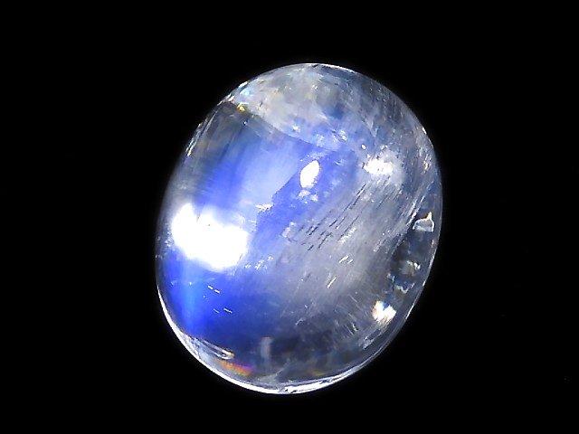 【動画】【1点もの】宝石質レインボームーンストーンAAA+ カボション 1個 NO.32
