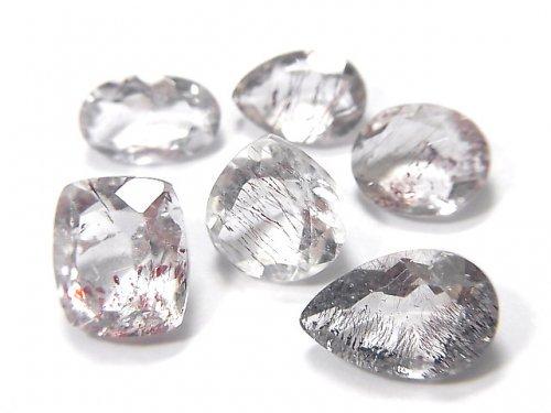 【動画】【1点もの】宝石質ブラジル産ゲーサイトインクォーツAA++ ファセットカット 6粒セット NO.103