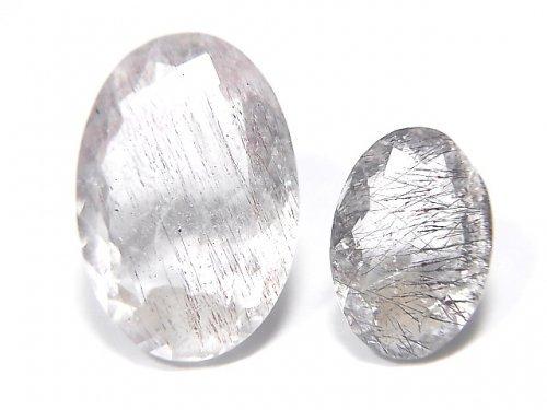 【動画】【1点もの】宝石質ブラジル産ゲーサイトインクォーツAA++ ファセットカット 2粒セット NO.104