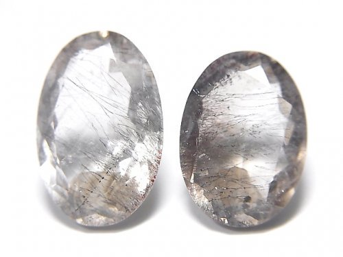 【動画】【1点もの】宝石質ブラジル産ゲーサイトインクォーツAA++ ファセットカット 2粒セット NO.107