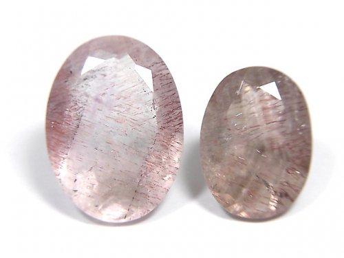【動画】【1点もの】宝石質ブラジル産ゲーサイトインクォーツAA++ ファセットカット 2粒セット NO.113