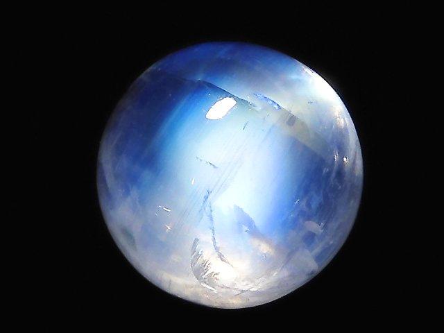 【動画】【1点もの】宝石質レインボームーンストーンAAA+ カボション 1個 NO.44