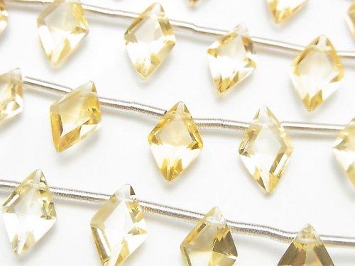 【動画】宝石質シトリンAAA ダイヤファセットカット11×7mm 1連(8粒)