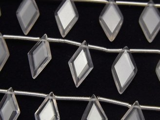 【動画】宝石質ローズクォーツAAA ダイヤカット14×7mm 1連(8粒)