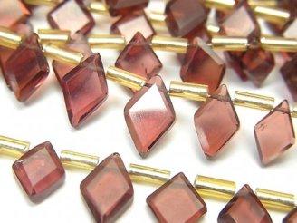 【動画】宝石質モザンビーク産ガーネットAA++ ダイヤカット 半連/1連(約18cm)