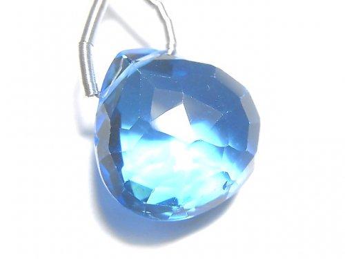 【動画】【1点もの】【希少】宝石質スイスブルートパーズAAAA 大粒マロン ブリオレットカット 1粒 NO.105