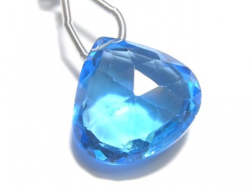 【動画】【1点もの】【希少】宝石質スイスブルートパーズAAAA 大粒マロン ブリオレットカット 1粒 NO.107
