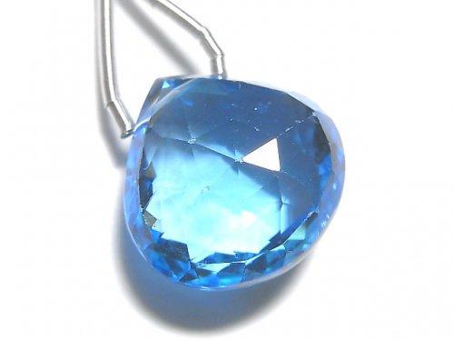 【動画】【1点もの】【希少】宝石質スイスブルートパーズAAAA 大粒マロン ブリオレットカット 1粒 NO.109