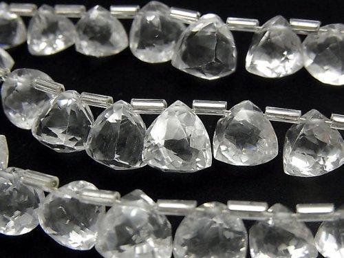 【動画】宝石質クリスタルAAA- 立体トライアングルカット 1連(約14cm)