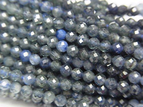 【動画】【素晴らしい輝き】宝石質ブルーサファイアAAA- 極小ラウンドカット2.5mm 1連(約30cm)