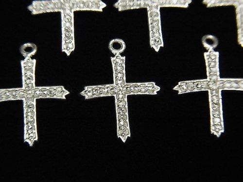【動画】ダイヤモンド クロス(十字架)チャーム 14×12×1mm SILVER925製 1個