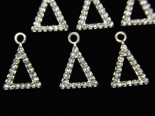【動画】ダイヤモンド トライアングル(ドーナツ)チャーム 10×8×1.5mm SILVER925製 1個