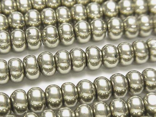 ゴールデン パイライトAAA ロンデル(ボタン)8×8×5mm 半連/1連(約38cm)