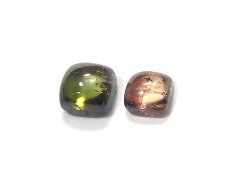 【動画】【1点もの】宝石質マルチカラートルマリンAAA カボション 2個セット NO.247