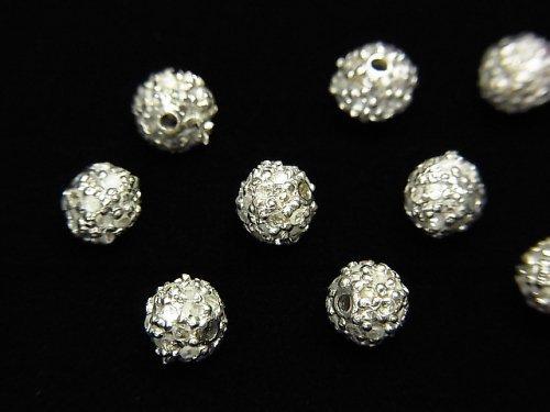 【動画】ダイヤモンド入りパーツ ラウンド4mm SILVER925製 1個