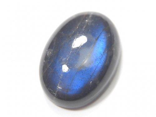 【動画】【1点もの】宝石質ブラックラブラドライトAAA- カボション 1個 NO.61