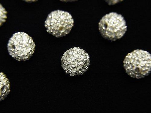 【動画】ダイヤモンド入りパーツ ラウンド5mm SILVER925製 1個