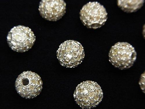 【動画】ダイヤモンド入りパーツ ラウンド6mm SILVER925製 1個