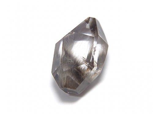 【動画】【1点もの】宝石質プラチナルチルクォーツAAA 片穴タンブルカット 1個 NO.44