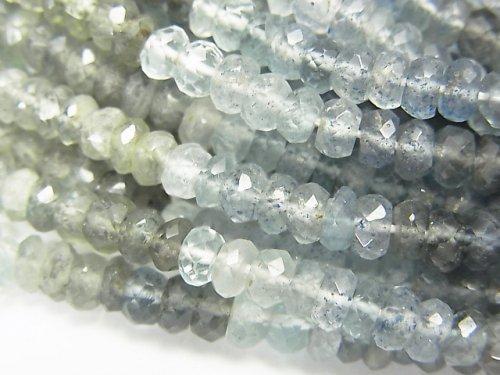 【動画】宝石質モスアクアマリンAA++ ボタンカット 半連/1連(約32cm)